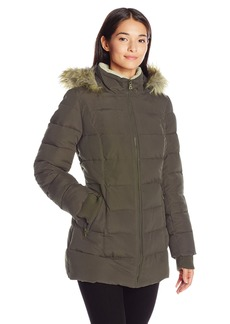 Larry Levine Women's 3/4 Parka with Sherpa  M