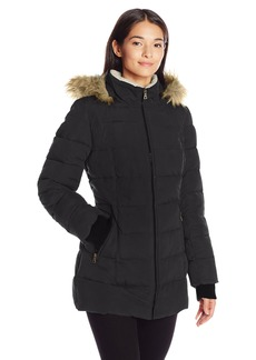 Larry Levine Women's 3/4 Parka with Sherpa  XL