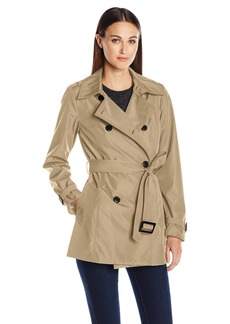 LARRY LEVINE Women's Db Short Trench  L