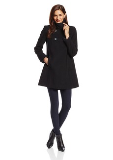 LARRY LEVINE Women's Double Breasted Plush Wool Coat