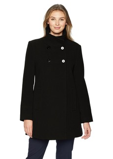 LARRY LEVINE Women's Double Breasted Plush Wool Coat  s