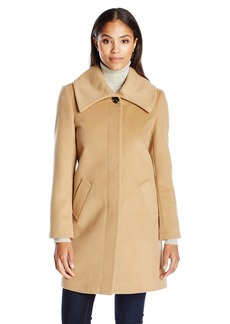 LARRY LEVINE Women's Envelope Collar Walker Jacket