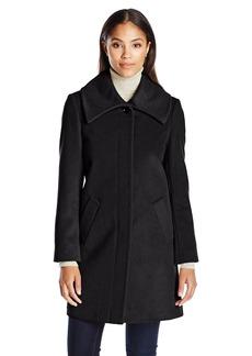 LARRY LEVINE Women's Envelope Collar Walker Jacket
