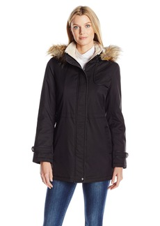 LARRY LEVINE Women's Hooded Parka Anorack with Sherpa  XS