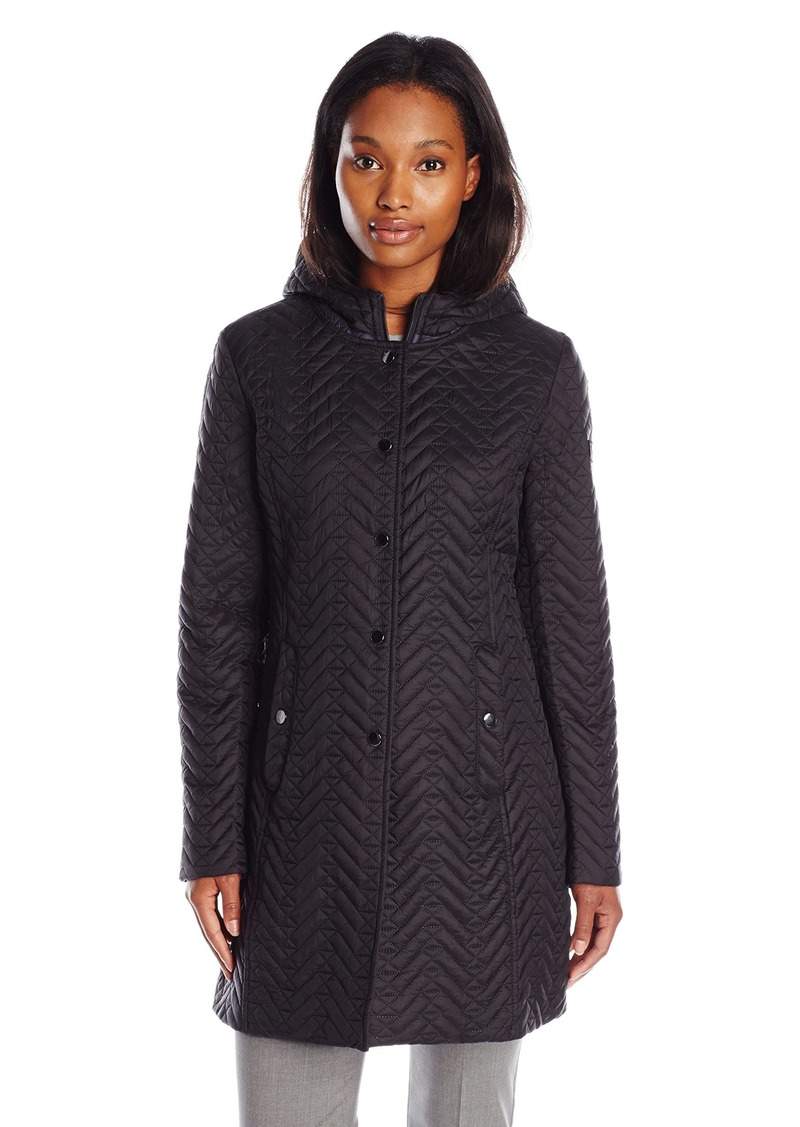 LARRY LEVINE Women's Quilted Jacket with Hood
