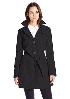 Larry Levine Women's ingle Breasted Trench Coat  mall