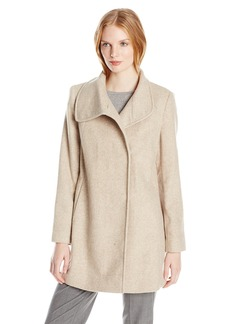 LARRY LEVINE Women's Wool Herringbone Coat