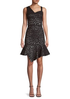 Laundry by Shelli Segal Animal-Print Asymmetric Dress