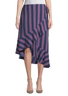 Laundry by Shelli Segal Asymmetric Flounce Hem Skirt