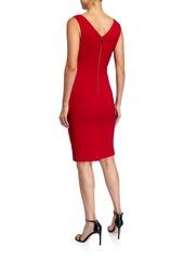 Laundry by Shelli Segal Asymmetric Stretch Double Weave Dress