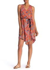 Laundry by Shelli Segal Asymmetrical Hem Floral Printed Dress