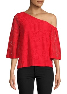 Laundry by Shelli Segal Asymmetrical Lace Blouse