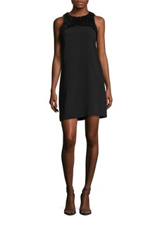 Laundry by Shelli Segal Beaded Neckline Shift Dress