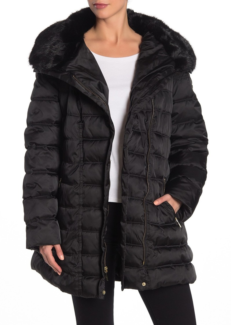 Laundry by Shelli Segal Belted Hooded Puffer