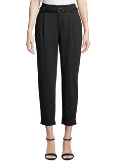 Laundry by Shelli Segal Belted Relaxed-Leg Pleated Pants