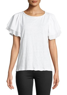 Boat-Neck Tiered-Sleeve Tee