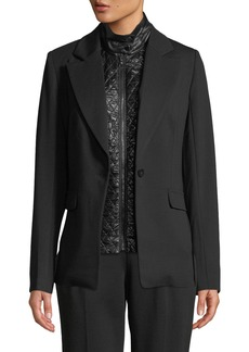 Laundry by Shelli Segal Button-Front Blazer with Quilted Insert