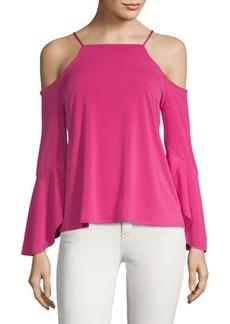 Cold-Shoulder Bell-Sleeve Top