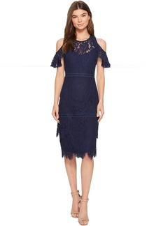 Laundry by Shelli Segal Cold Shoulder Lace Dress