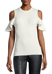 Laundry by Shelli Segal Cold-Shoulder Ribbed Sweater