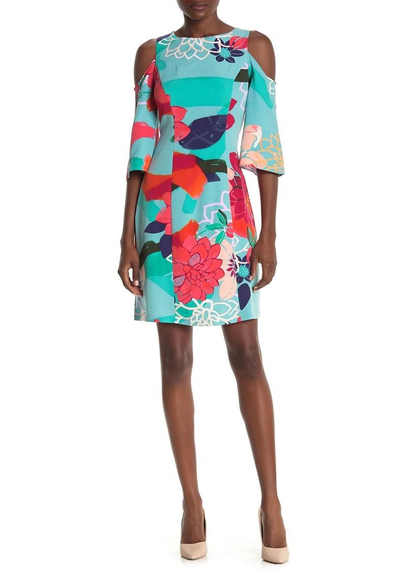 Laundry by Shelli Segal Floral Cold Shoulder Shift Dress (Regular & Plus Size)