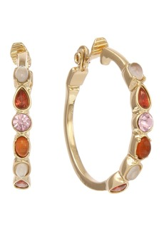 Laundry by Shelli Segal Coral Stone Clip Hoop Earrings