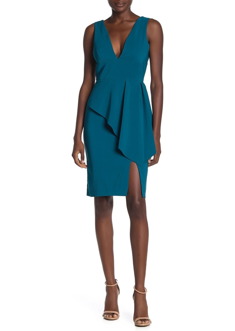 Laundry by Shelli Segal Core V-Neck Peplum Dress