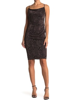 Laundry by Shelli Segal Cowl Neck Leopard Print Slip Dress