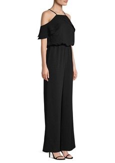 Laundry by Shelli Segal Crepe Cold Shouldered Jumpsuit