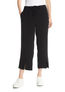 Laundry by Shelli Segal Crepe Cropped Slit-Leg Pants