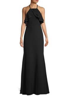 Laundry by Shelli Segal Crepe Cutaway Gown