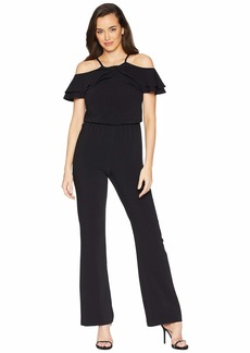 Laundry by Shelli Segal Crepe Cutaway Neck Jumpsuit