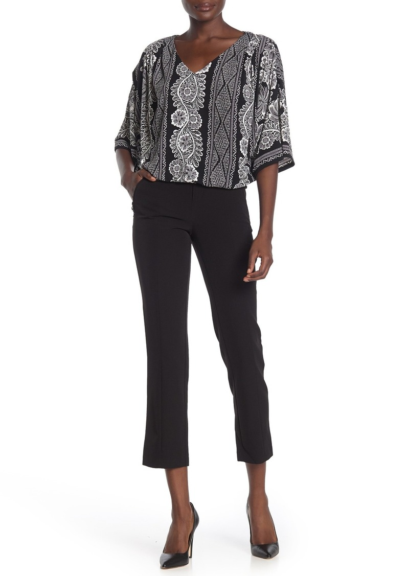 Laundry by Shelli Segal Crepe Infinity Slim Pants