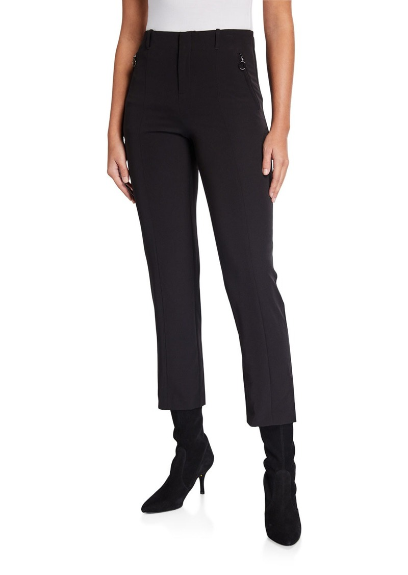 Laundry by Shelli Segal Crepe Skinny Pants With Zippers
