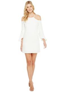 Laundry by Shelli Segal Crisscross Flutter Sleeve Cold Shoulder Cocktail Dress