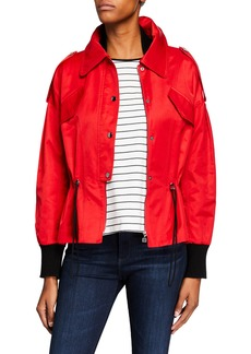 Laundry by Shelli Segal Cropped Bomber Jacket
