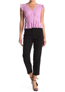 Laundry by Shelli Segal Cropped Straight Leg Crepe Pants