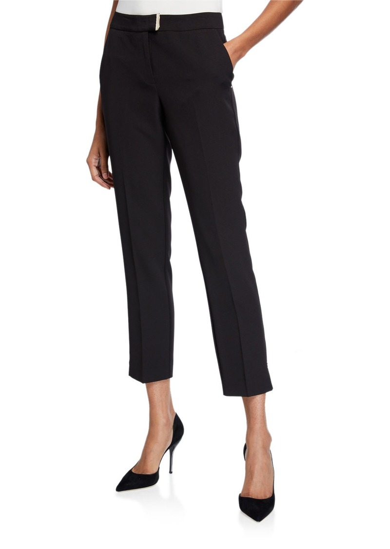 Laundry by Shelli Segal Cropped Straight Leg Trousers