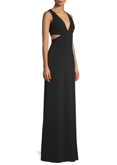 Laundry by Shelli Segal Cut Out Crepe Gown