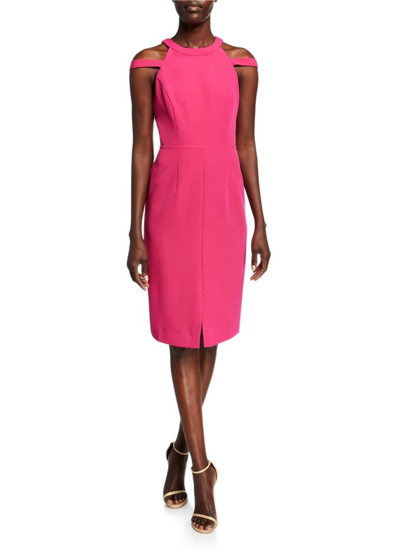 Laundry by Shelli Segal Cutout Core Halter Sheath Dress