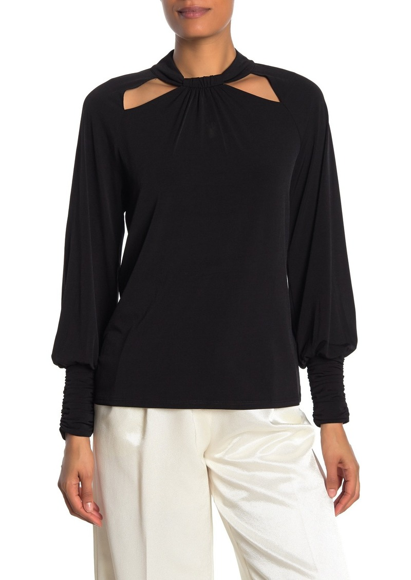 Laundry by Shelli Segal Cutout Long Sleeve Top