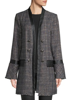 Laundry by Shelli Segal Double-Breasted Long Boucle Coat