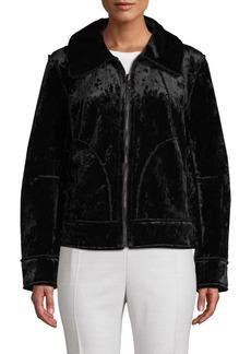 Laundry by Shelli Segal Double-Face Faux Fur Zip Jacket