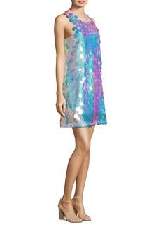 Laundry by Shelli Segal Droplet Pailette Sequin Mini Dress