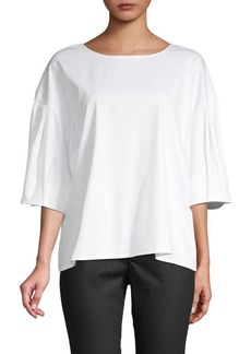 Laundry by Shelli Segal Dropped-Shoulder Cotton Top