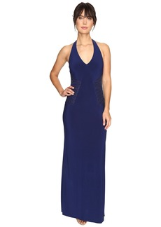 Laundry by Shelli Segal Embellished Halter Gown