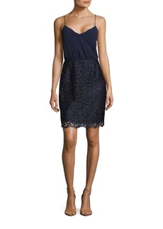 Laundry by Shelli Segal Embellished Wrap Dress