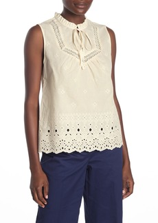 Laundry by Shelli Segal Embroidered Eyelet Sleeveless Top