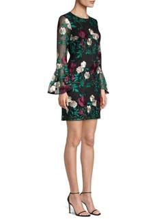 Laundry by Shelli Segal Embroidered Lace Cocktail Dress