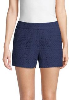 Laundry by Shelli Segal Eyelet Cotton Shorts